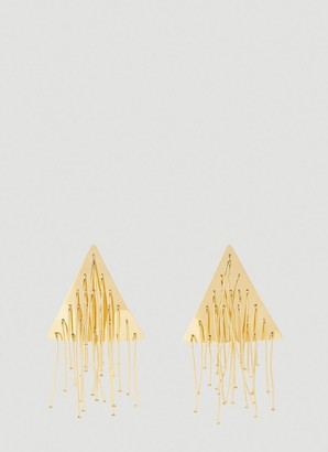 Jil Sander Triangle Drop Earrings