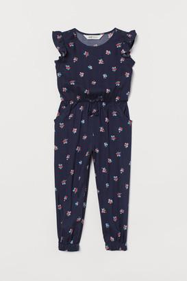 H&M Patterned Jumpsuit - Blue