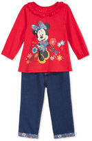 Nannette 2-Pc. Minnie Mouse Top & Jeans Set, Baby Girls (0-24 months)