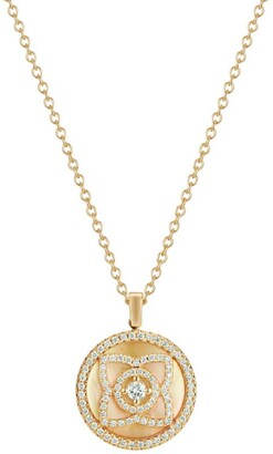 De Beers Yellow Gold and Diamond Enchanted Lotus Pendant Necklace