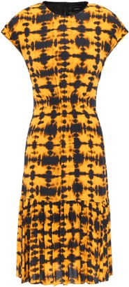 Proenza Schouler Gathered Tie-dyed Crepe De Chine Dress