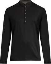 John Varvatos Long-sleeved wool henley top
