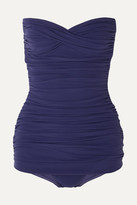 Thumbnail for your product : Norma Kamali Walter Mio Ruched Swimsuit - Midnight blue