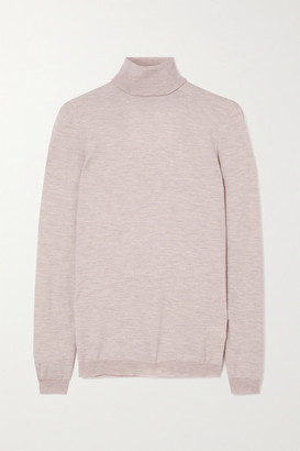 Brunello Cucinelli Cashmere-blend Turtleneck Sweater - Taupe