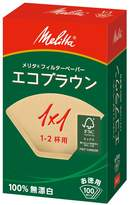 "Melitta [1-2] cups of 100 pieces of eco filter paper Brown enter ""10 Pack Set"" Eco PA 1 x 1G (japan import)"