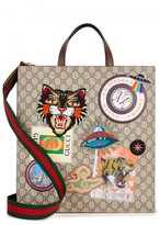 Gucci Angry Cat GG Supreme Tote