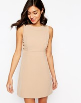 Warehouse Buttton Detail Shift Dress