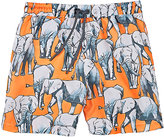 Sunuva Elephant-Print Swim Trunks