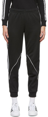 adidas Black Big Trefoil Abstract Lounge Pants