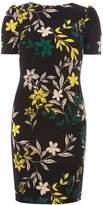 Dorothy Perkins Black Floral Print Puff Sleeve Shift Dress