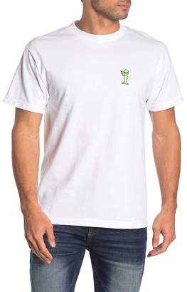 Retrofit Peace Alien Patch Crew T-Shirt