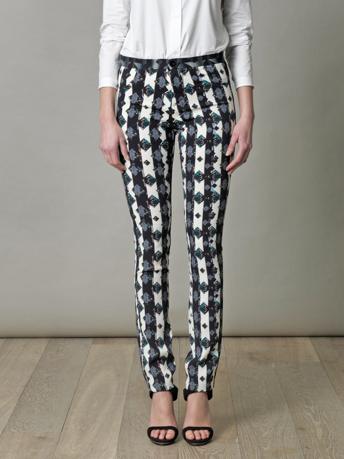 Peter Pilotto Eli monochrome dotty-print trousers
