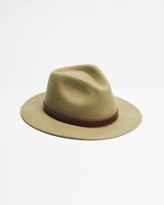 Brixton Green Hats - THE ICONIC EXCLUSIVE - Messer Fedora - Size XS at The Iconic