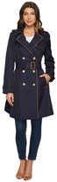 Lauren Ralph Lauren Trench w/ Faux Leather Piping