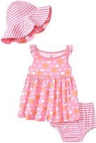 Gerber 3 Piece Dress Set (Baby) - Heart - 0-3 Months