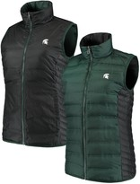 Green & Black Unbranded Women's Columbia Green/Black Michigan State Spartans Lake 22 Reversible Puffer Vest