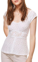 Free People Besties Lace-Accented Tee