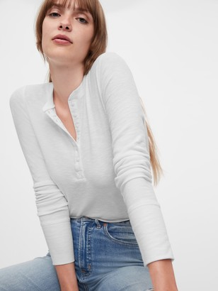 Gap Ribbed Henley T-Shirt