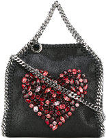 Stella McCartney small Falabella crystal heart bag - women - Artificial Leather/Metal (Other)/glass - One Size