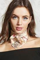 Forever 21 Floral Satin Square Scarf