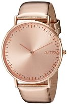 RumbaTime Women's 'SoHo Metallic Rose Gold' Quartz Metal and Leather Watch, Color:Rose Gold-Toned (Model: 26078)