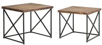 Crawford & Burke Argos Reclaimed Wood Nesting Tables (Set of 2)