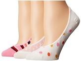 Kate Spade Berber Stripe 3-Pack Liner Women's No Show Socks Shoes