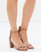 Kendra Leather Block Heels