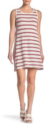 Max Studio Striped Sleeveless Shift Dress