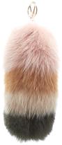 Furla Women's Bubble Fur Pom Pom Keyring Moonstone/Multi