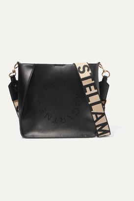 Stella McCartney Perforated Vegetarian Leather Shoulder Bag - Black