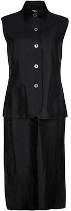 Max Mara Black Sleeveless Jacket and Dress Set M