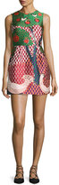 RED Valentino Sleeveless Embellished Multi-Patterned Dress, Amarena