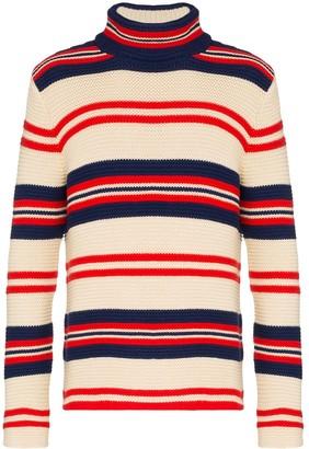 Gucci Rear Applique Striped Sweater