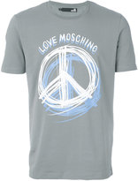 Love Moschino Peace print T-shirt - men - Cotton/Spandex/Elastane - M
