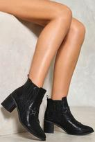 Nasty Gal nastygal Crocodile Rock Vegan Leather Boot