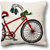 One Kings Lane Bicycle 18x18 Wool Pillow