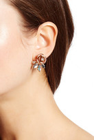 Betsey Johnson Rose Front & Back Earrings