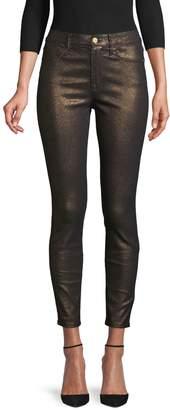 Frame Le High Metallic Skinny Jeans