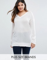 Elvi Plus V-Neck Jumper