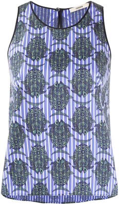 Odeeh Fish-Print Sleeveless Top