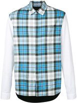 J.W.Anderson checked shirt - men - Cotton/Polyamide/Polyurethane/Viscose - 46