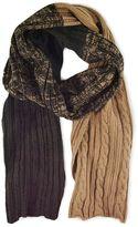 Muk Luks Colorblock Cable-Knit Scarf - Men