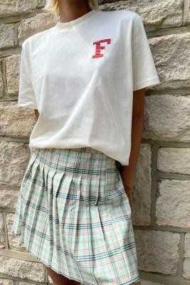 Fila Bryly Collegiate T-Shirt - White XS at Urban Outfitters