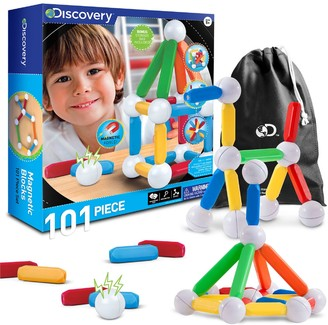 Discovery Kids Toy Magnetic Building Blocks 101-pc. Set