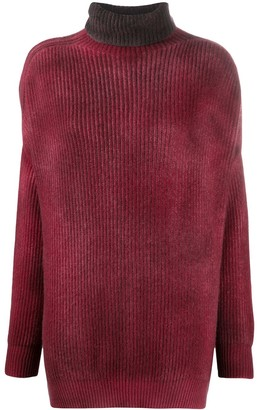 Avant Toi Ribbed Merino Wool Turtleneck Jumper