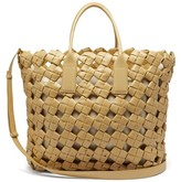Bottega Veneta Window Intrecciato Leather Tote Bag - Womens - Beige