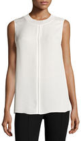 Vince Seam-Detail Sleeveless Silk Top
