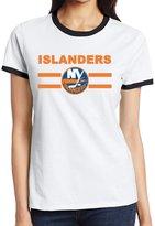 C-DIY Funny T-shirt C-DIY Women's Two-toned T-shirts Cool New York NY Hockey Logo