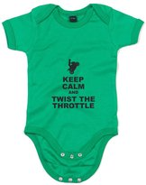 Brand88 Keep Calm And Twist The Throttle, Printed Baby Grow - 12-18 Months